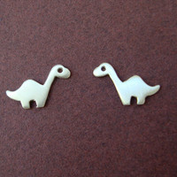 Dinosaur Stud Earrings Brontosaurus Sterling Silver Teen Kids Gift Jewelry Girl Woman Post Earrings mom  for her spring