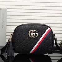 Gucci Women Leather Purse Shoulder Bag Crossbody Satchel