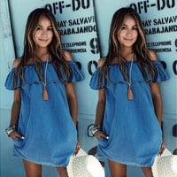 Fashon Women Sexy Casual Summer Beach Dress Casual Sleeveless Evening Party Short Mini Dress [9221268100]
