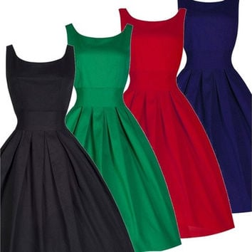 50s 60s Rockabilly Vintage Pinup Party Cocktail Evening Prom Bridesmaid Dress [9305811463]