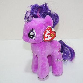 "Licensed cool My little Pony Twilight Sparkle TY Beanie Babies Bean Bag  7"" Stuffed Animal Toy"