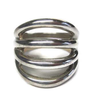 Vintage Modern Sterling Ring Size 7.5