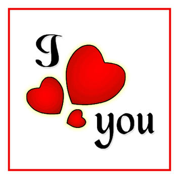 Contemporary Valentine I Heart You  Red Hearts Sew So Simple ™ Counted Cross Stitch or Counted Needlepoint Pattern