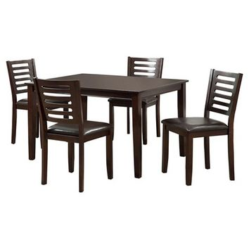 Furniture Of America Culver 5 Pieces Dining Table Set - Espresso