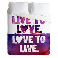 CMYKaren Live To Love Duvet Cover