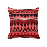 Tribal Aztec Coral and Black design Pillow from Zazzle.com