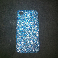 handmade ice blue glitter iphone 4/4s case by GlitterLovers