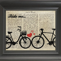 Two Bicycle -printed on  Bicycle history page. 250Gram paper.