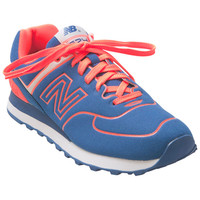 New Balance 574 Neon Lights Blue Neon Orange Blue Sneaker
