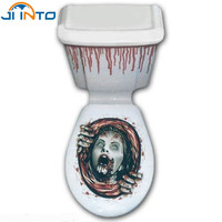 Halloween Pumpkin Day Toilet stickers Horror wall stickers Skull ghost PVC waterproof Home Decoration