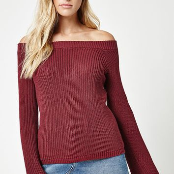 LA Hearts Off-The-Shoulder Bell Sleeve Sweater at PacSun.com