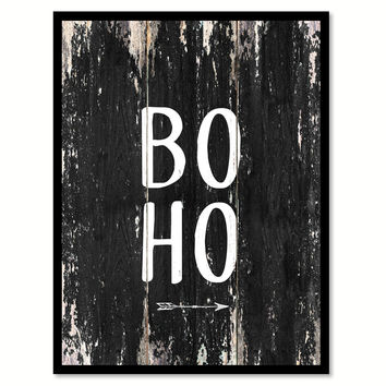 Boho 2 Motivational Quote Saying Canvas Print with Picture Frame Home Decor Wall Art