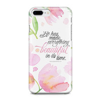 Ecclesiastes 3:11 Phone Case - Floral Phone Case - Scripture Phone Case - Everything Beautiful In Its Time - iPhone 8 - Galaxy S9
