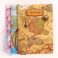 2017 New World Trip Passport Holder For Travel, 3 Color 3D Design PU Leather Passport Cover ID Card Holder, Size:14*10CM