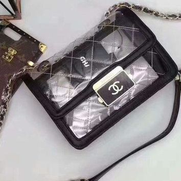 Chanel Candy Transparent Bag Women Shopping Leather Metal Chain Cross body Satchel Shoulder Bag