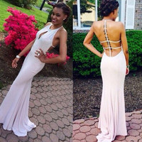 white Prom Dress,long Prom Dress,backless Prom Dress,sexy prom dress,evening dress 2016,PD733