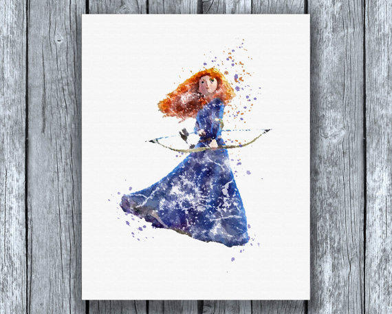 brave watercolor by bezawesome - photo #9