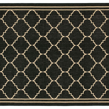 Warren Outdoor Rug, Black/Cream, Area Rugs