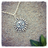 Handmade Smiling Sun Necklace