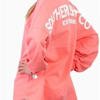 Southern Shirt Company Jersey Pullover in Pink Salmon