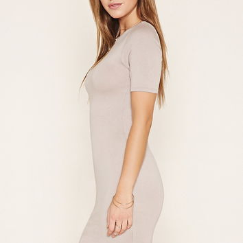 Dolphin-Hem Bodycon Dress | Forever 21 - 2000153071