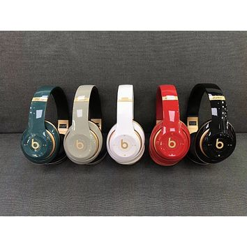 shosouvenir Beats Solo 3 Wireless Magic Sound Bluetooth Wireless Hands Headset MP3 Music Headphone with Microphone Line-in Socket TF Card Slot