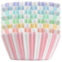 Pastel Circus Stripe Baking Cups