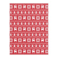 Cozy Red Christmas Sweater Inspired Pattern Fleece Blanket