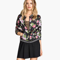 Patterned Pilot Jacket - from H&M