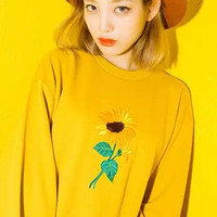 Sunflower Embroidered Sweater