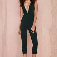 Nasty Gal On the Hunt Plunging Jumpsuit