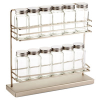 2-Tier Countertop Spice Rack w/ 12 Jars, Spice Racks