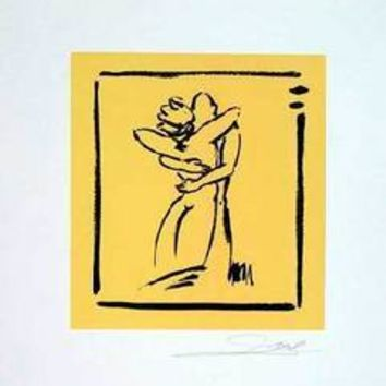 Love - Light Yellow - Hand Signed Open Serigraph