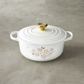 Le Creuset Signature Cast-Iron Cherry Blossom Round Dutch Oven