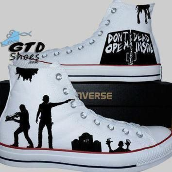 DCCK1IN hand painted converse hi the walking dead rick grimes daryl dixon walkers walkers