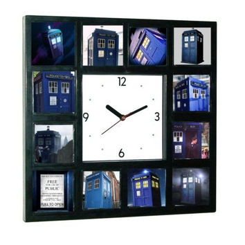 Doctor Dr. Who Tardis Glow In The Dark 12 Clock numbered LIMITED EDITION