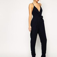Finders Keepers | Finders Keepers Here We Go Jumpsuit with Tie Waist at ASOS