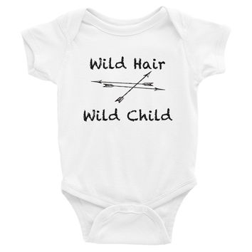 Wild Hair Wild Child Infant short sleeve one-piece