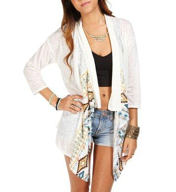 Cream Printed Light Jacket from Windsor | Want