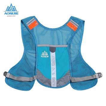 AONIJIE 5L Outdoor Reflective Backpack Hydration Vest Pack Running Backpack Sports Bag for Running Marathon