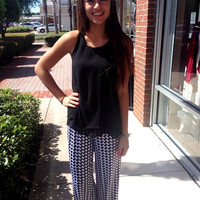 Houndstooth Pallazo Pants