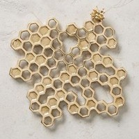 Beehive Trivet by Anthropologie in Gold Size: Trivet House & Home