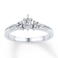 Diamond Promise Ring 1/5 carat tw Sterling Silver