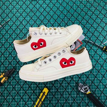 Cdg Play X Converse Chuck Taylor 1970s Low White