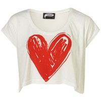 Topshop - Scribble Heart Crop by Illustrated People** customer reviews - product reviews - read top consumer ratings