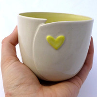 Altered Beaker with Heart Accent | modern cup | stoneware | ceramics | pottery | coffee tea | love