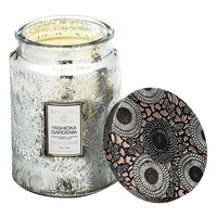 Voluspa 'Japonica - Yashioka Gardenia' Large Embossed Glass Jar Candle (Limited Edition)