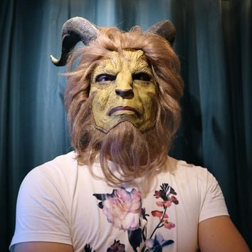 Movie Beauty and the Beast Latex Mask Masque Party Cosplay Judi Rabbit Mask Men Head Mask