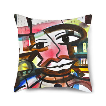 Decorative Home Pillow Cover,Throw Pillow, Circus Art, Nursery Pillow, Abstract Pillow, Colorful Pillows, Accent Pillow, Life Is a Circus