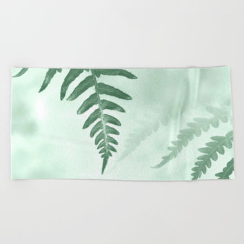 fern Beach Towel by ARTbyJWP